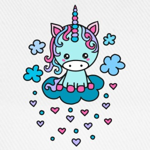 Cute Unicorn clouds, heart, kawaii, anime, manga  - Baseball Cap