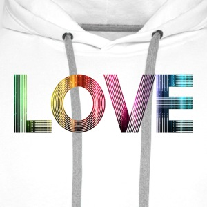 Love is everywhere T-Shirts - Men's Premium Hoodie