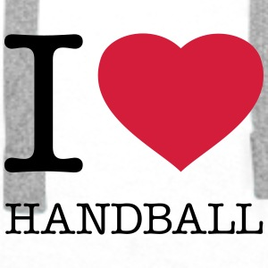 I LOVE HANDBALL - Premium hettegenser for menn