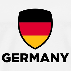 White Germany Emblem Big 1 (3c, NEU) Bags  - Men's Premium T-Shirt