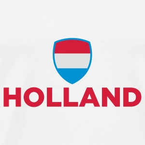 White Holland Emblem Small 1 (3c, NEU) Bags  - Men's Premium T-Shirt