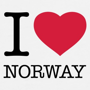 I LOVE NORWAY - Premium T-skjorte for menn
