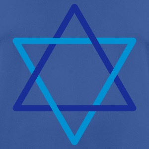 Blue/blue Star of David Caps & Hats - Men's Breathable T-Shirt