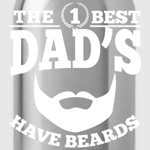 The Best Dads Have Beards T-Shirts - Trinkflasche