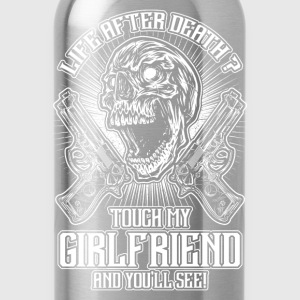 Don't touch my girlfriend - EN T-Shirts - Water Bottle