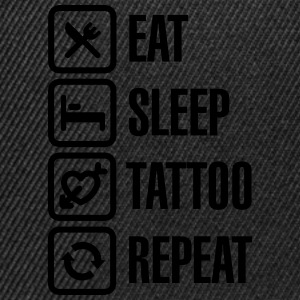 Eat Sleep Tattoo Repeat T-Shirts - Snapback Cap