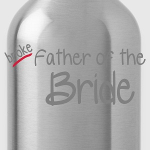 Navy Father of the Bride Men's T-Shirts - Water Bottle