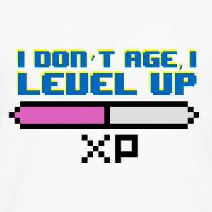 I Don't Age, I Level Up - Men's Premium Longsleeve Shirt