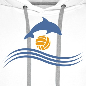 Wit waterpolo_delphin_ball T-shirts - Mannen Premium hoodie