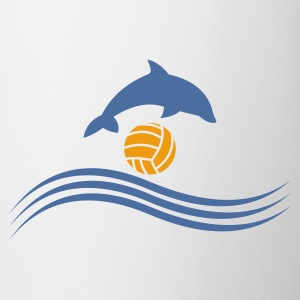 Wit waterpolo_delphin_ball T-shirts - Mok