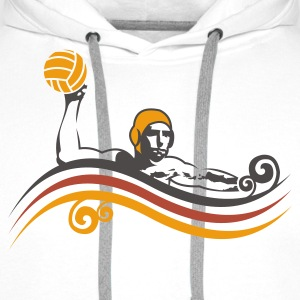 Wit waterpolo_new_v3 T-shirts - Mannen Premium hoodie