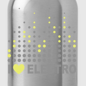 I love electro T-Shirts - Water Bottle