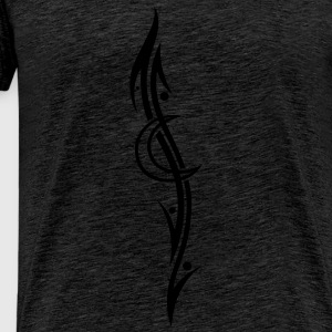 Tribal Tattoo moon, filigree - Men's Premium T-Shirt
