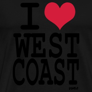 Schwarz i love west coast by wam Pullover - Männer Premium T-Shirt