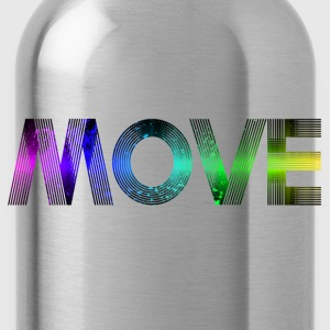 Move - rainbow T-Shirts - Water Bottle