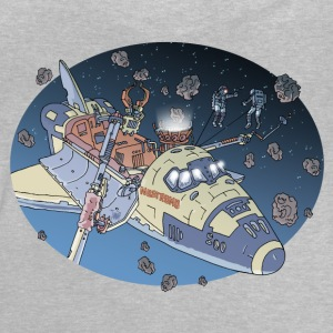 Gris chiné Space Adventure Manches longues - T-shirt Bébé