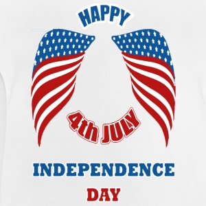 4th July America Independence Day Manga larga - Camiseta bebé