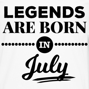 legends are born in july birthday saying T-Shirts - Men's Premium Longsleeve Shirt