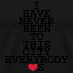 I have never been to NY - Männer Premium T-Shirt
