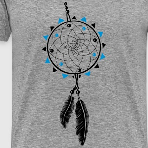Dreamcatcher with sun and two feathers Tops - Men's Premium T-Shirt