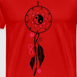 Dreamcatcher with feather, flutes, infinity symbol Sports wear - Men's Premium T-Shirt