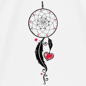 Dreamcatcher with heart and feathers, girlie style Other - Men's Premium T-Shirt