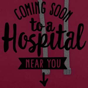 Pregnant - Coming soon to a hospital near you T-shirts - Kontrastluvtröja