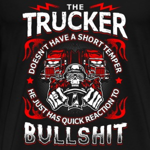 Quick Reaction to Bullshit - Trucker - EN Skjorter med lange armer - Premium T-skjorte for menn