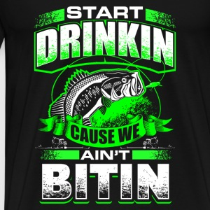 Start Drinkin - Fishing - EN Baby Bodysuits - Men's Premium T-Shirt