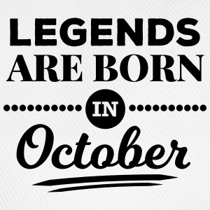 legends are born in october birthday October  Tops - Baseball Cap