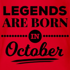 legends are born in october birthday October  Shirts - Organic Short-sleeved Baby Bodysuit