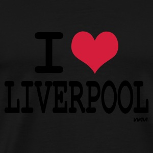 Black i love liverpool by wam Jumpers - Men's Premium T-Shirt