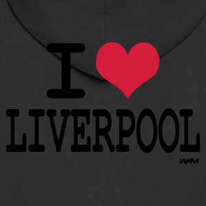 Black i love liverpool by wam Jumpers - Men's Premium Hooded Jacket