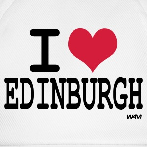 White i love edinburgh by wam Men's T-Shirts - Baseball Cap