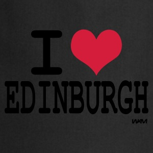 Black i love edinburgh by wam Jumpers - Cooking Apron