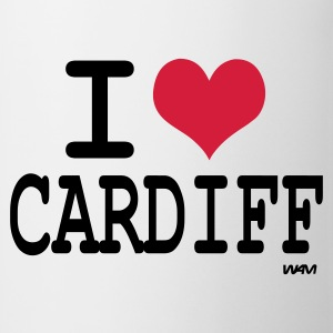 White/black i love cardiff by wam Long sleeve shirts - Mug