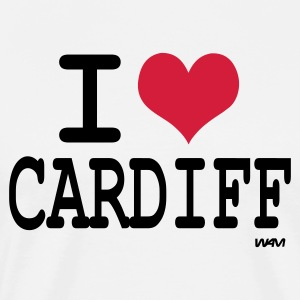 White/black i love cardiff by wam Long sleeve shirts - Men's Premium T-Shirt