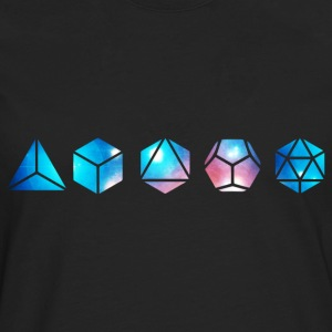 Platonic solids, building blocks of life, elements T-Shirts - Men's Premium Longsleeve Shirt