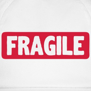 Fragile word board sign Baby Bodysuits - Baseball Cap