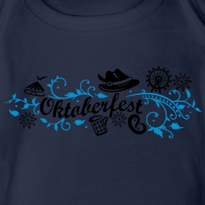 Oktoberfest decoration with traditional elements Shirts - Organic Short-sleeved Baby Bodysuit