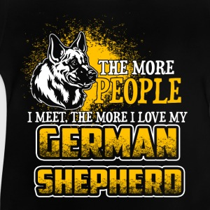 The More People I Meet - German Shepherd - EN Koszulki - Koszulka niemowlęca