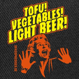 Tofu, Vegetables, Light Beer T-Shirts - Snapback Cap