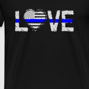 love - Blue Line Tops - Men's Premium T-Shirt