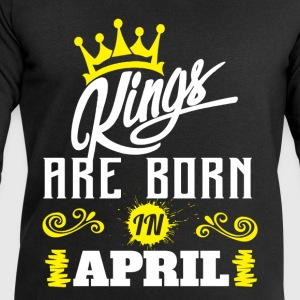 Kings Are Born In April T-Shirts - Men's Sweatshirt by Stanley & Stella