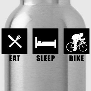 Rot eat sleep bike T-Shirts - Trinkflasche