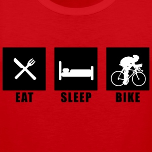 Rot eat sleep bike T-Shirts - Männer Premium Tank Top