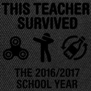 This teacher survived school year 20116 - 2017 T-Shirts - Snapback Cap