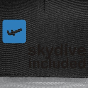 Noir Skydive Included (2c, NEU) T-shirts - Casquette snapback