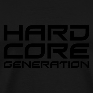 Black Hardcore Generation II EN Jumpers  - Men's Premium T-Shirt