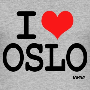 Gråmelert i love oslo by wam Gensere - Slim Fit T-skjorte for menn